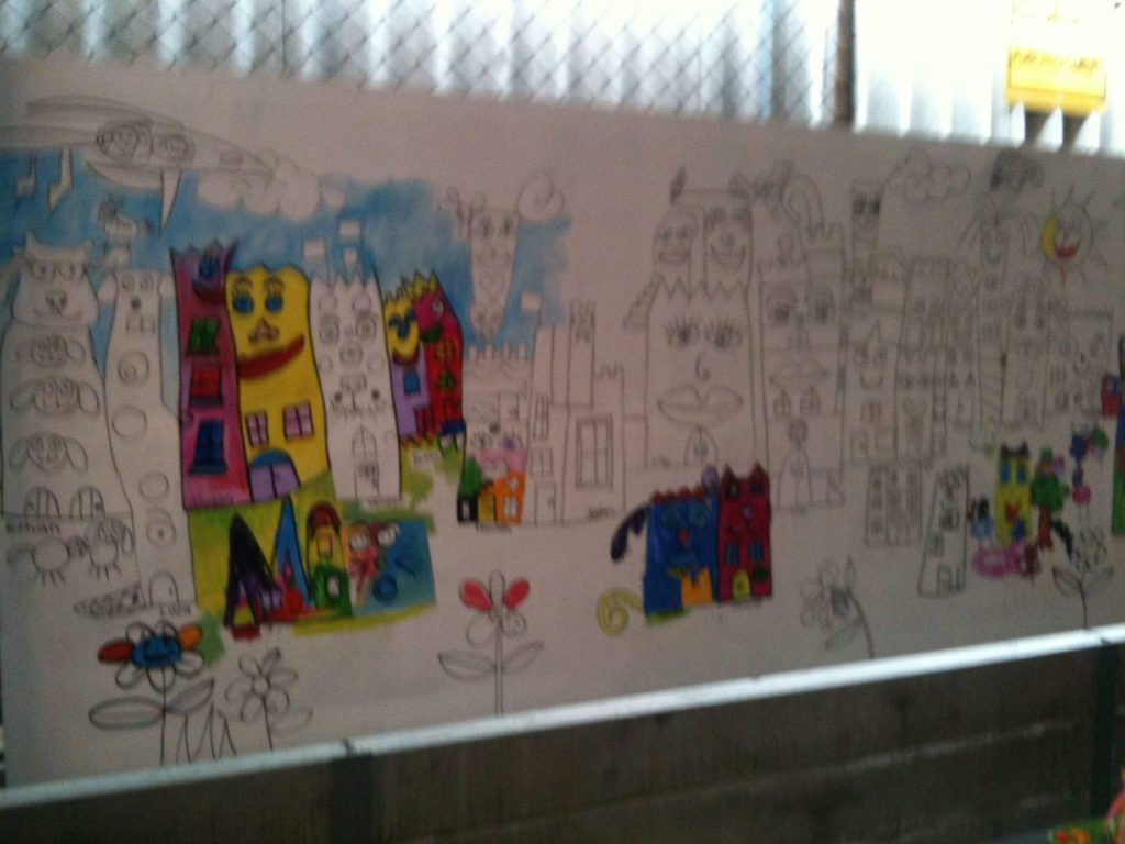 Cheryl at St Monica's School Mural