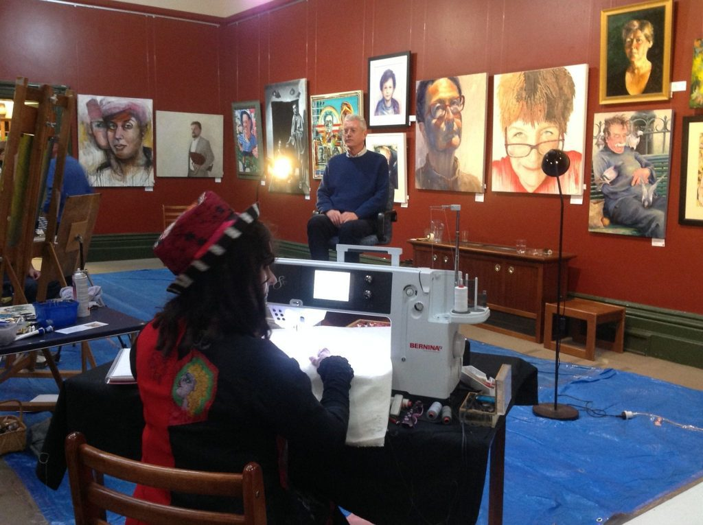 Cheryl to embroider the Governor's portrait live!